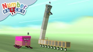 Numberblocks - Rally Race! | Learn to Count