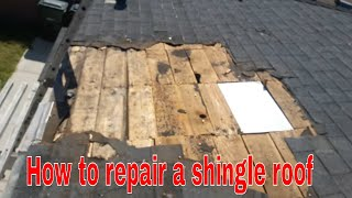 How to Repair A Leaking Shingle Roof...DIY  simple and easy , ( check this out)