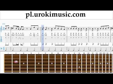 Nauka Gry Na Gitarze Ariana Grande - No Tears Left To Cry Nuty Poradnik Um-ih463
