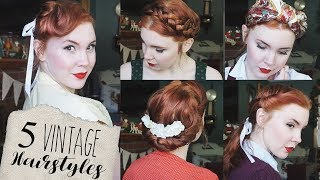 5 Quick & Easy Vintage Hairstyles for Natural/Straight Hair!