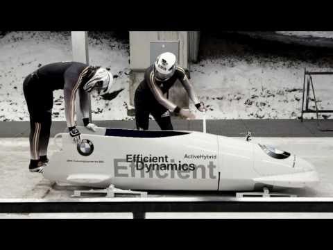 BMW Bike vs. BMW Bobsleigh Stunt