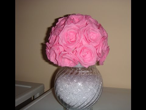 ♥ DIY Flower / Rose Vase made of Streamer Paper! ♥