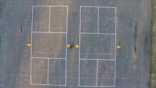 Our new drone showing footage of RC car racing at Winnipeg Beach.