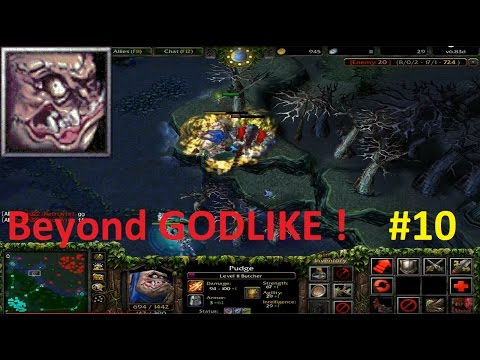 DotA 6.83d - Pudge, Butcher Beyond GODLIKE ! #10