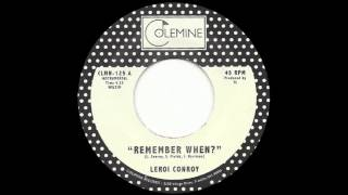 Leroi Conroy Remember When Cinematic Soul 45