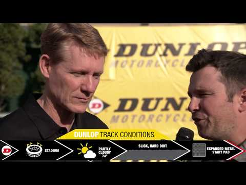 Dunlop Motorcycle Tires Track Conditions Report - First Round at Anaheim