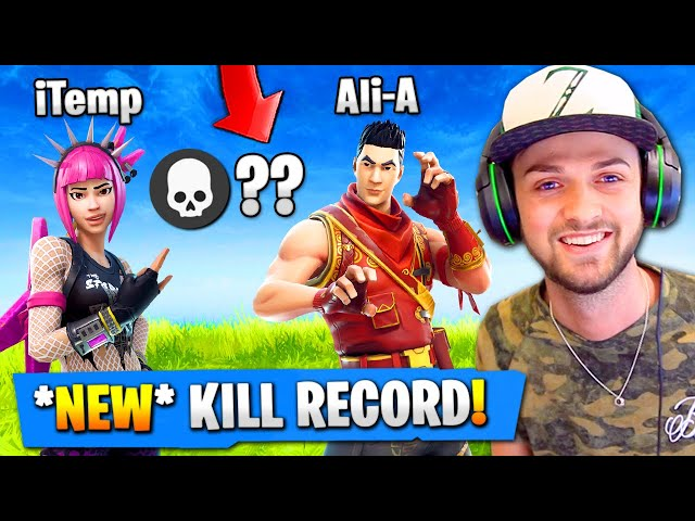 OUR MOST KILLS EVER in Fortnite Battle Royale! NEW RECORD