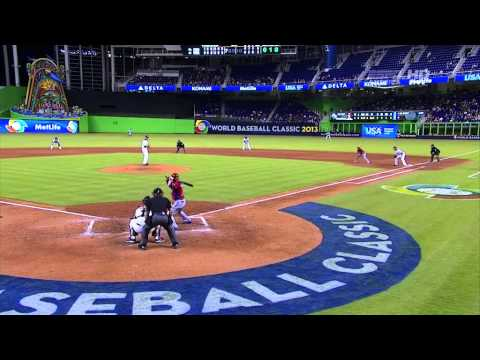 WORLD BASEBALL CLASSIC 2013  3/15/14 PUERTO RICO VS UNITED STATES