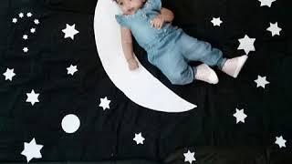 Creative photoshoot of baby Shreshta Kiran at home.