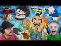 TROLL FACE QUEST Horror 1 + LAVA vs HELLO NEIGHBOR MINECRAFT w/ Shawn (FGTEEV Boys)
