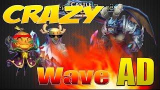 Castle Clash, Битва Замков, Треш!!! Прохождение Волны AD-5, Wave AD-5
