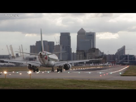 Just Alitalia stunning takeoff from London City Airport