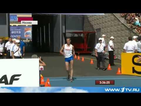 Последние новости 2013 - Россиянин Михаил Рыжов в спортивной ходьбе на 50 км завоевал «серебро»