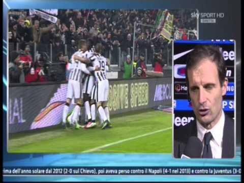 Intervista Post Partita Juve-Inter 1-1 Massimiliano Allegri