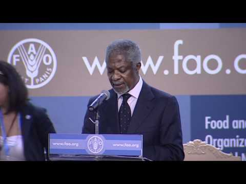 Kofi Annan speaking at FAO Conference 37th Session