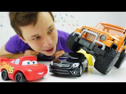 Видео про игрушки: машинки. Молния Маквин и друзья ищут, кто сломал машинки!