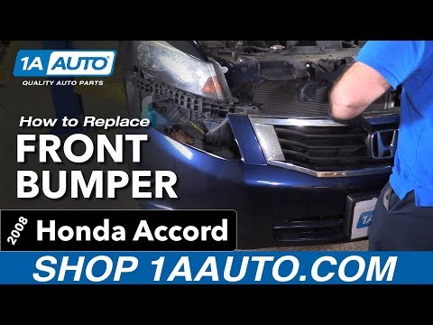 How to Remove Install Front Bumper 08 Honda Accord