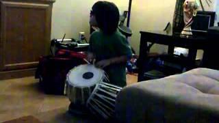 Raiyan Masudi playing tabla at 4 1/2 years old!