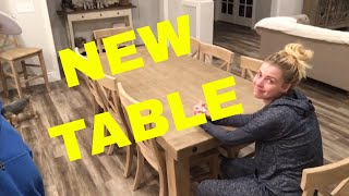 NEW KITCHEN TABLE IS HERE