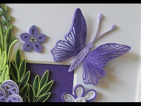 Butterfly quilling tutorial youtube for Arts et decoration