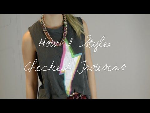 How I Style: Checked Trousers | sunbeamsjess