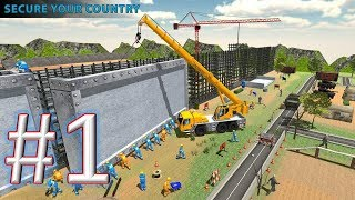 Border Wall Construction  Security Fence Building gameplay trailer android