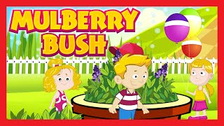 Here We Go Round the Mulberry Bush Nursery Rhyme