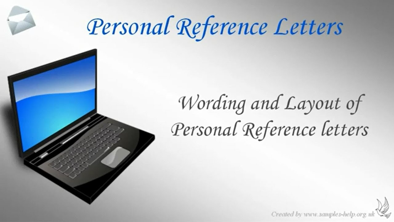 how to write a personal reference letter for someone