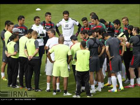 Team Melli Iran training before the 2014 FIFA World Cup.