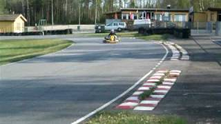 Jürg and Roger competing with gocarts in Sweden