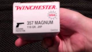 Snub Nose Defensive ammo recoil test - Ruger LCR .357 mag