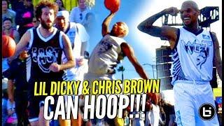 Chris Brown & Lil Dicky CAN HOOP!!! Chris Brown