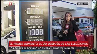 Aument  La Nafta Entre Un 9 Y Un 12 Por Ciento