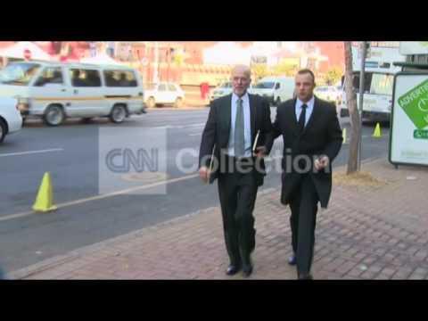 SOUTH AFRICA: OSCAR PISTORIUS ARRIVAL (TUES)
