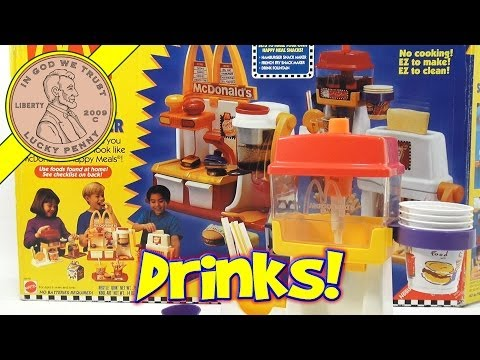 McDonald's Happy Meal Magic Drink Fountain Maker Set. 1993 Mattel Toys (Fun Recipes)