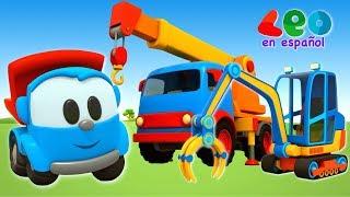 Leo el Pequeño Camión - Videos educativos infantil - Gruas para niños