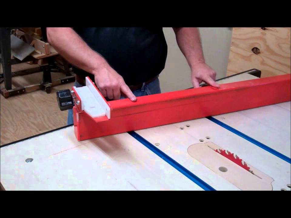 Table saw fence youtube Table saw fence