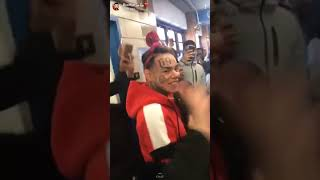 Tekashi 6ix9ine Surprises Kids At His Old School