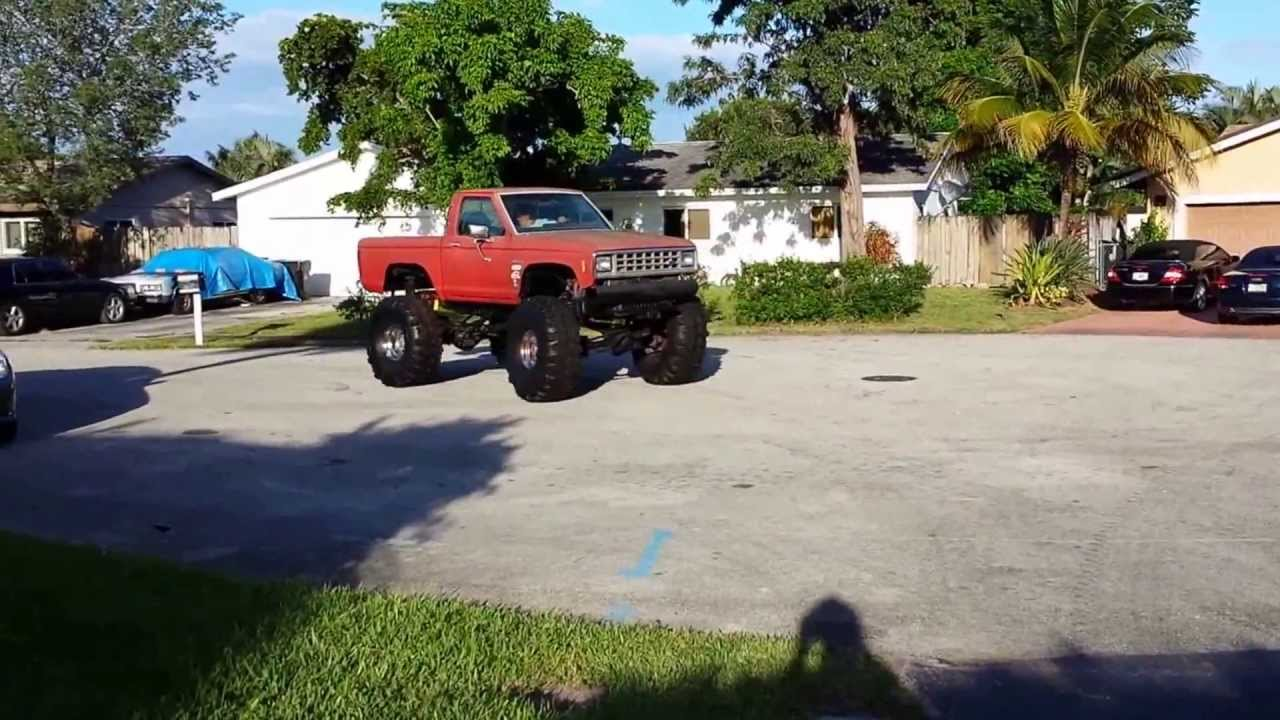 4x4 Lifted Ranger on 44 inch Super Swampers Mud Truck ...