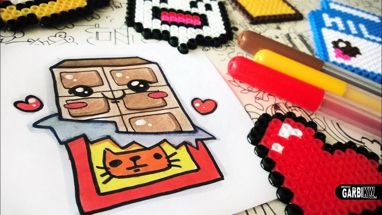 how to draw cute chocolate easy and kawaii drawings by