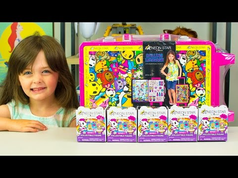 NEON STAR Tokidoki ROLLING LUGGAGE TOY MAKEUP FOR GIRLS SERIES 3 COLLECTIBLE FIGURES SURPRISE TOYS