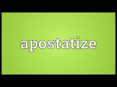 Header of apostatize