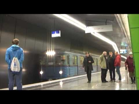 Moscow metro Zulebino and Lermontovskiy prospekt frist day TRIPOD ONLY