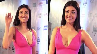 Kajal Agarwal in a DEEP LOW NECK GOWN at 61st Brit