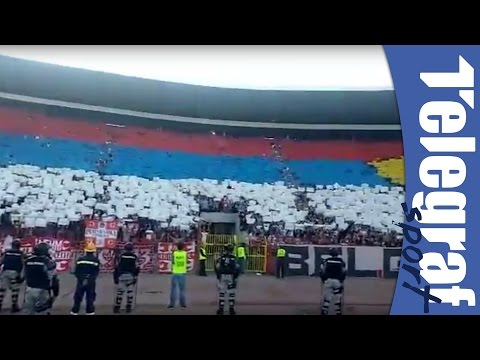 Koreografija Delija za Kosovo i protiv UEFA