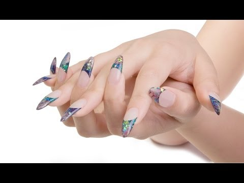 Mermaids Tale - Using Young Nails Acrylics & Glitters - Acrylic Nails