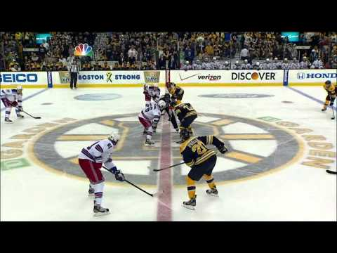 Torey Krug mega blast slapshot goal 1-1 May 25 2013 NY Rangers vs Boston Bruins NHL Hockey