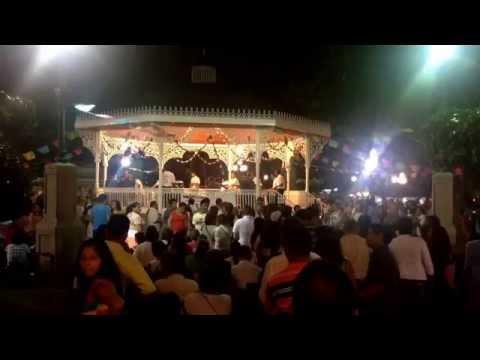 Música en jardín de la Marimba. Tuxtla Gutiérrez, Chiapas