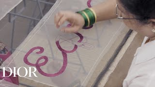 The Making Of The Embroidered Banners From The Haute Couture Spring-Summer 2020 Show Set