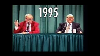 1995 Berkshire Hathaway Annual Meeting Warren Buffett Charlie Munger FULL Q&A